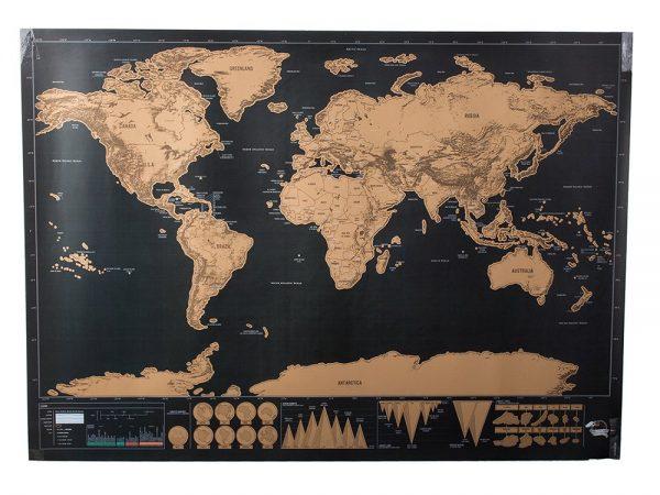 Scratch Map - nokasāma pasaules karte 82 x 59