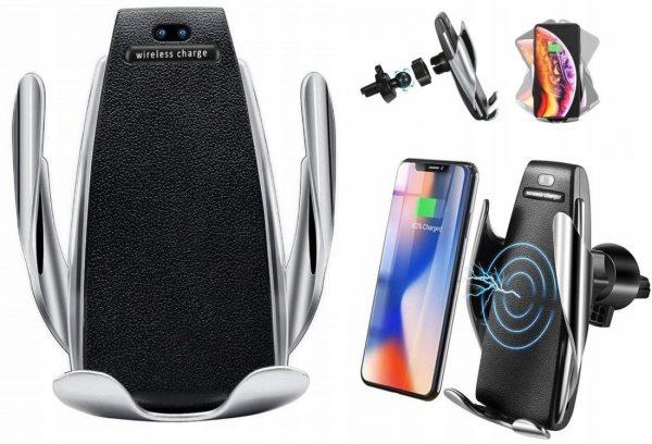 Auto mobīlā telefona turētājs - bezvadu lādētājs , IRED sensors 5S