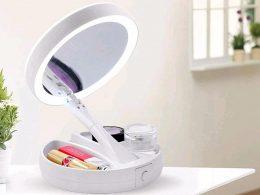 Apaļš spogulis ar LED apgaismojumu