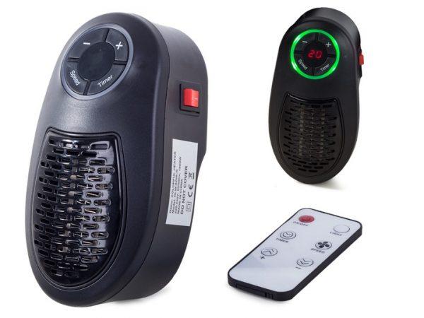 Elektriskais mini sildītājs ar tālvadības pulti RGB