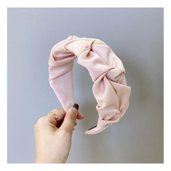 Bieza krokaina matu stīpiņa rozā krāsā