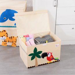 Mantu kaste - grozs organizātors rotaļlietām M2