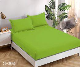 Palags ar gumiju 160x200 cm gaiši zaļā krāsā