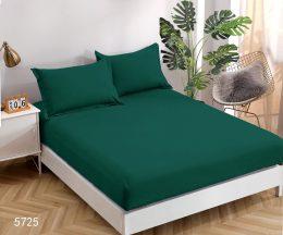 Palags ar gumiju 160x200 cm tumši zaļā krāsā