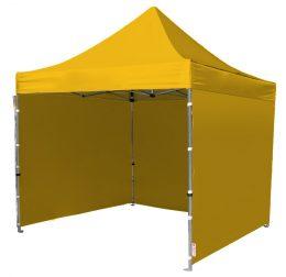 Ātri Saliekamā Telts 3X3 metri Pop up dārza nojume ( jumts + 3 sienas ) dzeltenā krāsā