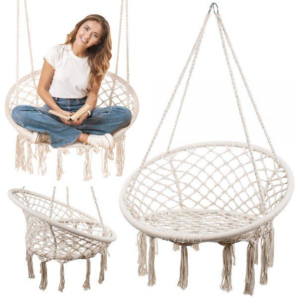 Šūpuļtīkls - iekarināms šūpuļkrēsls ''Stārķa ligzda''