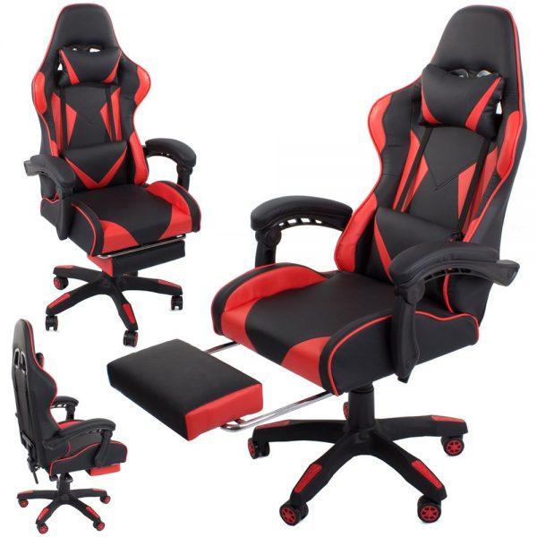 Datorspēļu krēsls VKG sarkanā krāsā