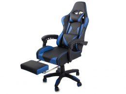 Datorspēļu krēsls VKG zilā krāsā