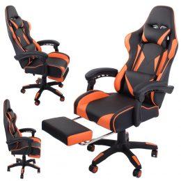 Datorspēļu krēsls VKG oranžā krāsā