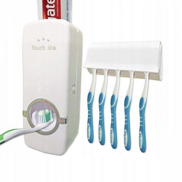 Zobu pastas dozators + zobu suku turētājs