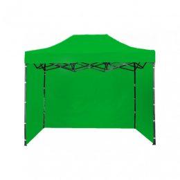 Ātri Saliekamā Dārza Nojume - Pop up Tirdzniecības Telts Paviljons 3X2 metri ( jumts + 3 sienas ) zaļā krāsā 30 steel