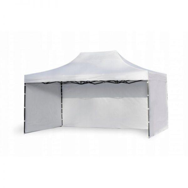 Ātri Saliekamā Telts 3 X 4.5 metri Pop up dārza nojume ( jumts + 3 sienas ) baltā krāsā 30 Steel