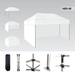 Ātri Saliekamā Telts 4.5 X 3 metri Pop up nojume ( jumts + 4 sienas + soma) baltā krāsā 40HEX