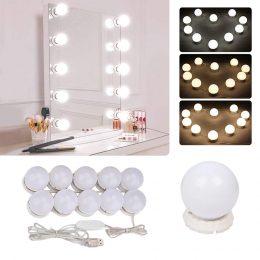 Spoguļa 10 LED apgaismojuma komplekts