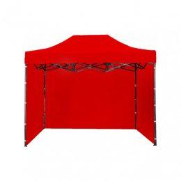 Ātri Saliekamā Dārza Nojume - Pop up Tirdzniecības Telts Paviljons 3X2 metri ( jumts + 3 sienas ) sarkanā krāsā 30 steel (Copy)