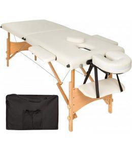 Saliekams masāžas galds - masāžas kušete 2 daļīga 2 zonu CREAM