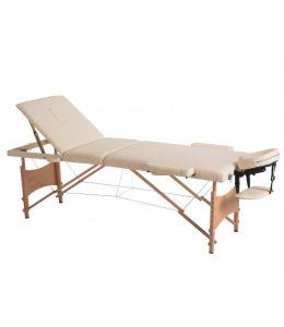 Saliekams masāžas galds - masāžas kušete 3 daļīga 3 zonu CREAM