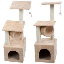 Kaķu mājiņa - nagu asināmais skrāpis - tornis ar 3stāviem ( 92cm ) bēšs
