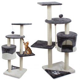 Kaķu mājiņa - nagu asināmais skrāpis - tornis ar 5 stāviem ( 111 cm )