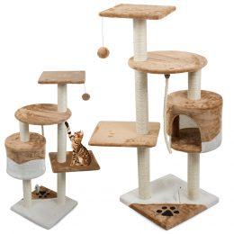 Kaķu mājiņa - nagu asināmais skrāpis - tornis ar 5 stāviem ( 111 cm ) bēšs
