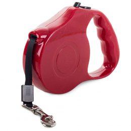 Automātiskā siksniņa - pavadiņa suņiem 5m līdz 15 kg sarkana